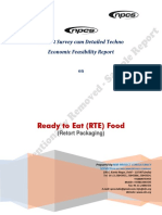 Detailed Project Report on Ready to Eat Food