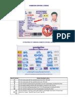 Cambodias Driving License