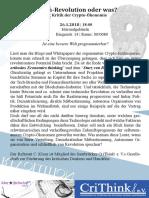 Flyer Cryptocurrency & Akademischer Antisemitismus