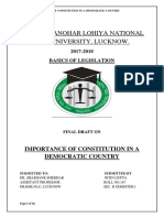 Basics of Legislation