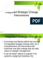 Integrated Strategic Change Interventions