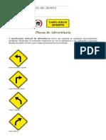 Placas de Trânsito — Placas de Advertência