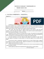 Prueba de Diagnostico de Lenguaje y Comunicación de Tercero Basico 2016