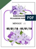 MINGGU PERSEKOLAHAN 2018