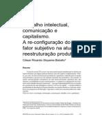César Bolaño - Trabalho Intelectual, Comunicação e Capitalismo