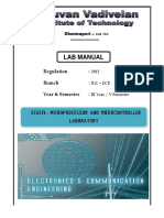 EC6513 Microprocessor Microcontroller Lab 1 2013 Regulation