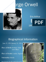 George Orwell Author Background