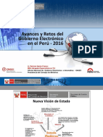 1. Gobierno Electrónico - Avances