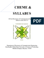 B.tech . Syllabus Oct 2016