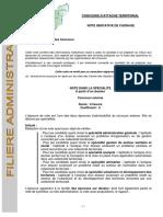 Candidats Note cadrage écrits EX IN 3voie