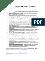 Twelve Principles of Green Chemistry