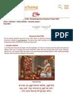 Hanuman Puja Vidhi _ Shodashopachara Hanuman Puja Vidhi