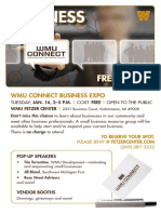 WMU Connect Expo Flyer