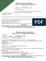 Subiectele Clasa 7
