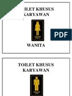 Toilet Khusus Karyawan
