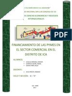 Acceso de Financiamiento de Las Pymes en La Localidad de Ica