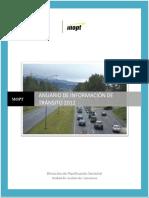 Anuario Tránsito MOPT 2012 Conteos Vehiculares TPD