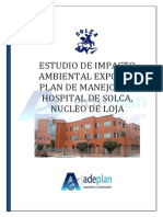 Plan de manejo ambiental del hospital Solca