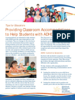 Classroom Accommodations