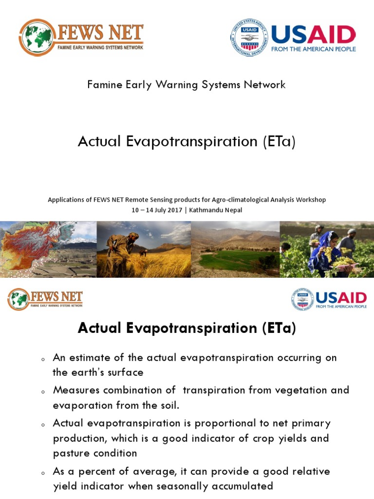 Actual Evapotranspiration | Evapotranspiration | Meteorology