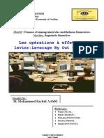 "les operation a effet de levier : leverage by out ""LBO"""