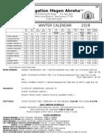 Winter Calendar 5778