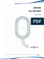 UbiQuoss U9016B User Guide GE-PON Ver1.1