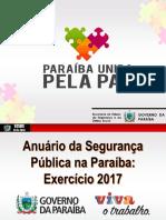 Anuário da Segurança Pública na Paraíba em 2017