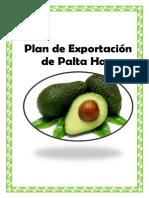 plan de exportacion de la palta