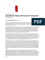 How Barack Obama Became Mr. Unpopular