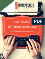 49 Titluri Irezistibile Promovare Online