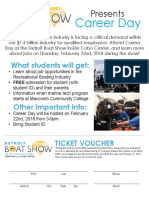 career day student flyer