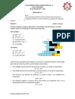 Crucigrama Potencias y Notacion Cientifica