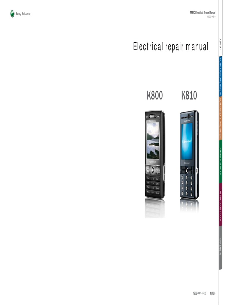 Sony Ericsson K800 K810 Electrical Repair Manual