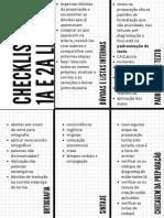checklist para revisão antes da diagramação