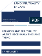 religion and spirituality in elderly care