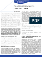 Ataxia Diet FAQ