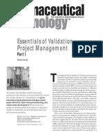Essentials of Validation Project Management 1