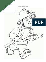 Pompierul desen