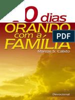 Livro eBook 40 Dias Orando Com a Familia