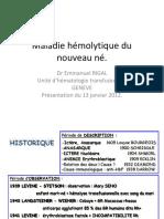 03_Morbus Haemolyticus Neonatorum_Emmanuel Rigal