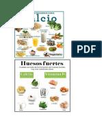 Alimentos. Músculos y Huesos