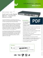 Catalogo SG 2620 QR Switch Rack 2 Portas Gigabit Ethernet 24 Portas Fast Ethernet Com QoS