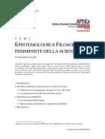 Tanesini – Epistemologie e Filosofie Femministe Della Scienza (1)