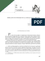 Bravo, G. Mercado de Trabajo en La Araucania 1880-1910