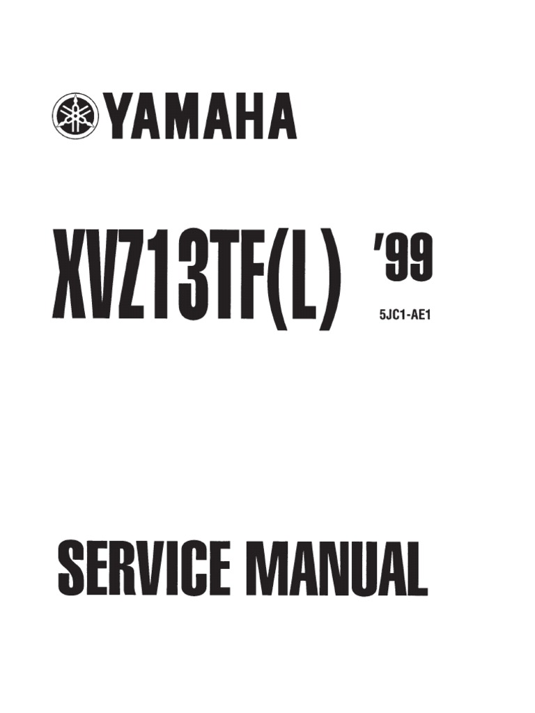 Yamaha XVZ1300 TF(L) Royal Star 99 Service Manual ENG by Mosue | Screw |  Compact Cassette