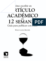 Cómo Escribir Un Articulo Académico en 12 semanas