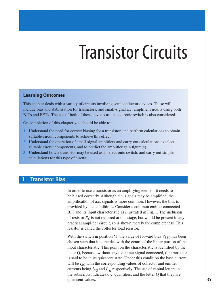 Transistor Circuits Field Effect Amplifier Transistors Dc Voltage Grounded With Ac Input Electrical