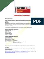 Technical & Safety Data Sheet - Arexons Motorsil D - Original Red