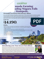 Explore Canada with the Farming Touring including Niagara Falls & Calgary Stampede